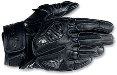 Alpinestars SP-S Leather Motorcycle Gloves with Carbon Fiber really make for a cool riding glove!