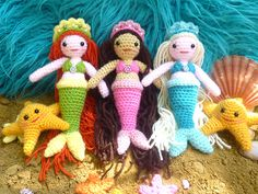 Ravelry: Meredith the Mermaid and Stella the Starfish pattern by Janine Holmes.