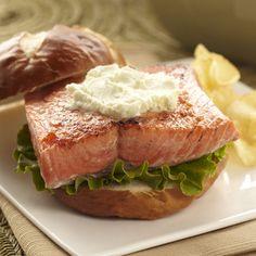Alaska Sockeye Salmon with Wasabi Goat Cheese
