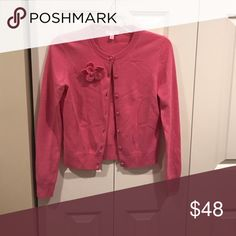 Cashmere Wool Cardigan It is in excellent condition. The flower is a removable pin. Very classy and a staple. Lilly Pulitzer Sweaters Cardigans