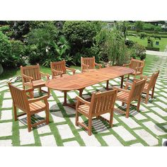 Vifah Vista 9 Piece Dining Set II