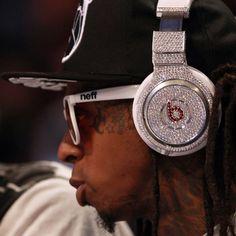 Geek Shot: Lil Wayne's Diamond-Studded Beats Headphones