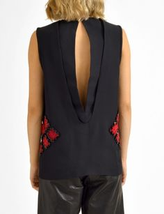 Maiyet hand beaded embroidered sleeveless tunic back