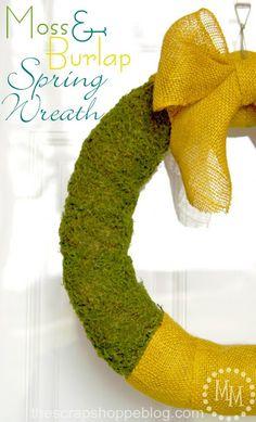 Moss & Burlap Spring Wreath
