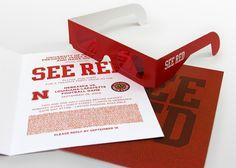 "Nebraska football game invitation ""see Red"""