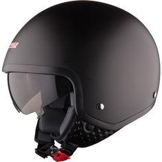 LS2-OF561-1-Wave-Matt-Black-Motorcycle-Helmet-Scooter-Cruiser-Jet-Custom-Chopper