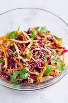 Cajun Delicacies Is A Lot More Than Just Yet Another Food Asian Coleslaw - Refreshing And Colorful Asian-Style Coleslaw Recipe. A Perfect Salad To Complement Ahi Tuna Steak, Bbq Meats, And Other Asian Themed Dinner Menus. Taco Dinner, Dinner Menu, Easy Japanese Recipes, Asian Recipes, Oriental Recipes, Chinese Recipes, Healthy Food Choices, Healthy Recipes, Healthy Foods