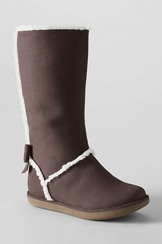 Girls' Lacey Bow Back Tall Boots from Lands' End