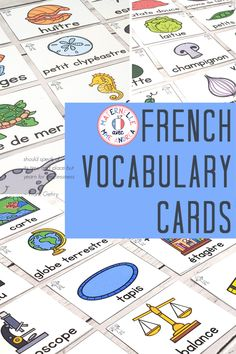 It's easy to teach and review French vocabulary all year long using this BUNDLE of word wall cards! With cards in both colour and black