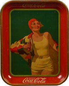 Coca Cola Tin Serving Tray c1960 : Lot 949