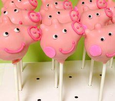 Fiesta, Dulces, Pasteles, Recetas, Pasteles De Cerdo Peppa, Peppa Estallidos De La Torta De Cerdo, Ideas De Cumpleaños, Cake Pops, Cerdos