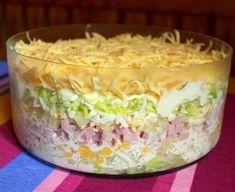 Złocieniecka sałatka warstwowa Mary Berry, Polish Recipes, Polish Food, Guacamole, Salad Recipes, Mashed Potatoes, Macaroni And Cheese, Cabbage, Berries