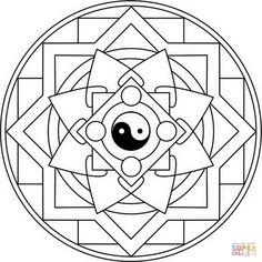 Mandala with Yin Yang | Super Coloring
