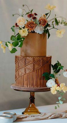 Elegant Wedding, Boho Wedding, Dream Wedding, Copper Wedding, Summer Wedding, Wedding Sweets, Wedding Cake Flavors, Cake Wedding, Bodas Boho Chic