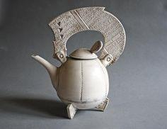 Raku Teapot von previous auf Etsy