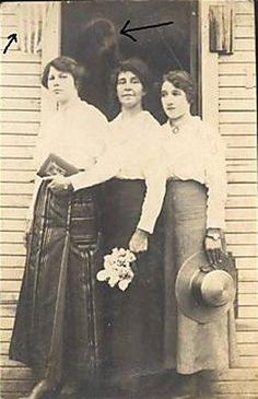 Early 20th century picture, with a special guest