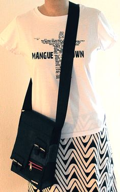 Recycled Felt & Tube Handbag + Recycled Cristo T-shirt Sack Bag, Sacks, Tube, Recycling, Reusable Tote Bags, Felt, Crop Tops, T Shirt, Women