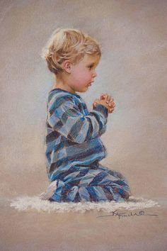 Dear Jesus by Kathy Fincher #baby #prayer #painting #art