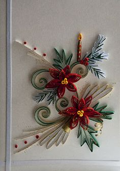 Quilled christmas card - WOW! I need to learn quilling.