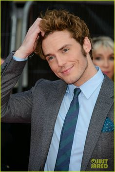 Sam Claflin at the world premiere of his film The Quiet Ones in London, England