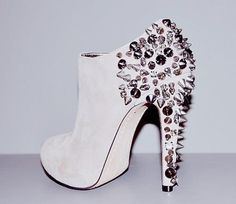 Sam Edelman spiked booties! I need! Have the Lorissa pumps in black and nude.