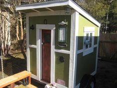 wait till you see the inside. This woman can make a tiny space interior look like a real house. This is only 6x6 the-nest-tiny-house-on-wheels-