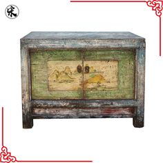 wholesale antique distressed rustic reclaimed wood painted storage furniture