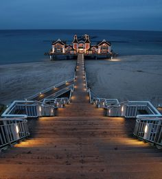 Pier of Sellin, Rügen, Germany (by N°rdlicht) A girl can only dream to see this beautiful place. Please let me win the lottery to adventure to all these beautiful place in this world. Places To Travel, Places To See, Travel Destinations, Dream Vacations, Vacation Spots, Places Around The World, Around The Worlds, Wonderful Places, Beautiful Places