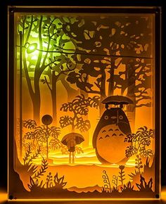 My Neighbor Totoro Handmade Paper Craft 3D Night Light Shadow