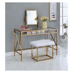 The Importance Of Vanity Desk Iohomes Burdette Contemporary Vanity Table Set : Target Bedroom Vanity Set, Vanity Table Set, Vanity Set With Mirror, Vanity Stool, Mirrored Bedroom, Bedroom Vanities, Small Vanity, Glam Bedroom, Bedroom Small