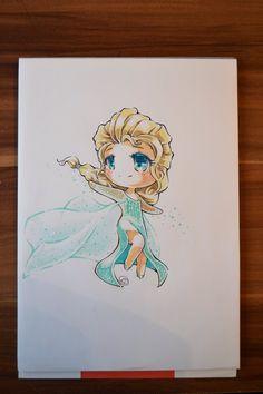 Chibi Snow Queen Elsa by Lighane