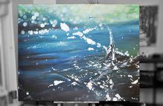 Ein Tropfen auf den heißen Stein. Mein bisher größtes Werk: 150 x 120 cm, Acryl auf Leinwand. Verkauft