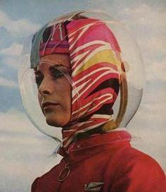 Emilio Pucci's stewardess helmet