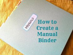 How to create a Manual Binder #planneraddicts #organize