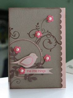 Baroque Motif and bird builder punch ~ So pretty!  SU