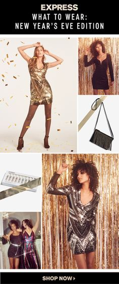 Get ready to stand out at every holiday party this season in the best looks from Express. From sequin jumpsuits and dresses to high-shine metallics, you'll be the bell of the ball. Shop new looks at in-store and online now. New Years Outfit, New Years Eve Outfits, Nye Outfits, Casual Fall Outfits, Cute Fashion, Boho Fashion, Fashion Outfits, Cool Girl Style, My Style