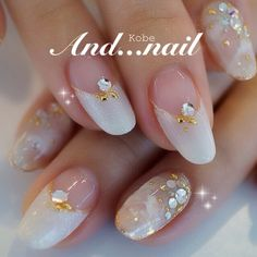 かわいいネイルを見つけたよ♪ #nailbook Simple Nail Art Designs, Nail Polish Designs, Nail Designs, Wedding Day Nails, Wedding Nails Design, Korean Nail Art, Nail Techniques, Japanese Nail Art, Hot Nails