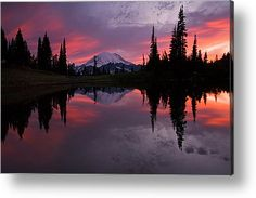 Red Sky At Night Metal Print by Mike  Dawson