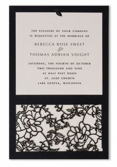 Margherite Laser Cut Wedding Invitations