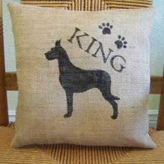 Great Dane pillow dog pillow puppy pillow by KelleysCollections