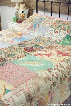 Vintage Home Shop - Beautiful Antique Welsh Patchwork Quilt: www.vintage-home.co.uk