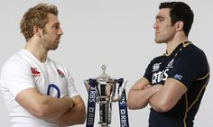 England vs Scotland: England captain Chris Robshaw and Scotland captain Kelly Brown give each other the once over. Photograph: Tom Shaw/Getty Images for RBS Chris Robshaw, Kelly Brown, Six Nations, Rugby Players, England And Scotland, Toms, Photograph, Shit Happens, Image