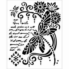 Folk Embroidery Ideas Stamperia x Thick Stencil Dragonfly - Great for mixed media and paper craft projects. Hungarian Embroidery, Folk Embroidery, Paper Embroidery, Embroidery Patterns, Word Stencils, Finding A Hobby, Arts And Crafts, Paper Crafts, Design Your Own Jewelry