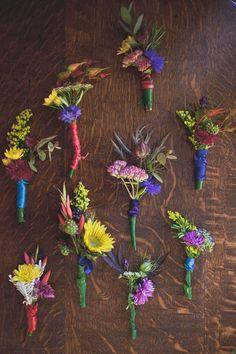 boho wildflower boutonniere