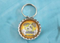 Personalized Custom Dog ID - Bottle Cap Jewelry - Lost Dog Tag ID