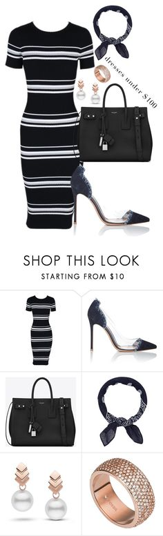 """""""Untitled #523"""" by dreamer3108 on Polyvore featuring MINKPINK, Gianvito Rossi, Yves Saint Laurent, Accessorize, Escalier and FOSSIL"""