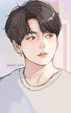 Jungkook fanart obviously not by me Jungkook Fanart, Fanart Bts, Jungkook Cute, Bts Anime, Anime Guys, Anime Art Girl, Fan Art, K Wallpaper, Kpop Drawings