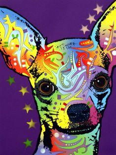 Buy Chihuahua Dog Purple Rain Pop Art Pet Lover Pet Shop Dog Groomer Pet Boarding Vet Clinic Wall Décor DIY Colorful Diamond Painting Cross Stitch Rhinestone Mosaic Embroidery Wall Painting at Wish - Shopping Made Fun Reno Animal, Chihuahua Art, Teacup Chihuahua, Chihuahua Drawing, Chihuahua Tattoo, Pop Art, Canvas Prints, Art Prints, Canvas Artwork
