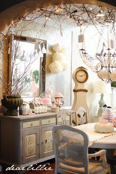 Elegant Cinderella party details on Dear Lillie: Lillie's Pink Cinderella Party