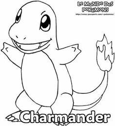 Charmander Pokemon Coloring Page